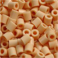 Fuse Beads, size 5x5 mm, hole size 2,5 mm, medium, light beige (32228), 6000 pc/ 1 pack