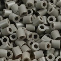 Fuse Beads, size 5x5 mm, hole size 2,5 mm, medium, ash-coloured (32226), 1100 pc/ 1 pack