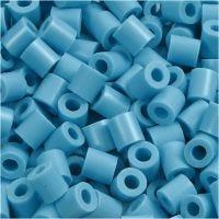 Fuse Beads, size 5x5 mm, hole size 2,5 mm, medium, turquoise (32256), 1100 pc/ 1 pack