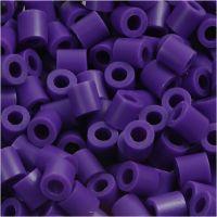 Fuse Beads, size 5x5 mm, hole size 2,5 mm, medium, dark purple (32234), 1100 pc/ 1 pack