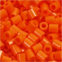Fuse Beads, size 5x5 mm, hole size 2,5 mm, medium, clear orange (32233), 1100 pc/ 1 pack