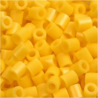 Fuse Beads, size 5x5 mm, hole size 2,5 mm, medium, yellow (32227), 6000 pc/ 1 pack