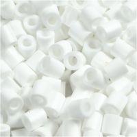 Fuse Beads, size 5x5 mm, hole size 2,5 mm, medium, white (32221), 1100 pc/ 1 pack