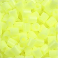 Fuse Beads, size 5x5 mm, hole size 2,5 mm, medium, pastel yellow (32244), 6000 pc/ 1 pack