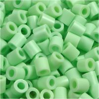 Fuse Beads, size 5x5 mm, hole size 2,5 mm, medium, pastel green (32252), 1100 pc/ 1 pack
