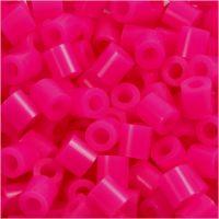 Fuse Beads, size 5x5 mm, hole size 2,5 mm, medium, cerise (32258), 1100 pc/ 1 pack