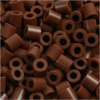 Fuse Beads, size 5x5 mm, hole size 2,5 mm, medium, chocolate (32249), 1100 pc/ 1 pack