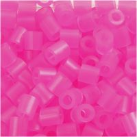 Fuse Beads, size 5x5 mm, hole size 2,5 mm, medium, rose neon (32257), 1100 pc/ 1 pack