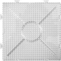 Peg Board, large square, size 15x15 cm, transparent, 2 pc/ 1 pack