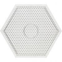 Peg Board, large hexagon, size 15x15 cm, 10 pc/ 1 pack