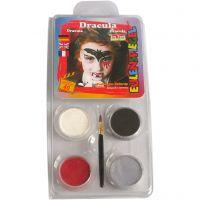 Eulenspiegel Face Paint - Motif Set, dracula, assorted colours, 1 set
