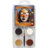 Eulenspiegel Face Paint - Motif Set, lion, assorted colours, 1 set