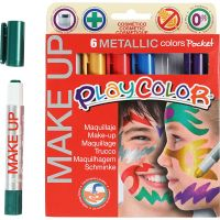 Playcolor Make Up, metallic, assorted colours, 6x5 g/ 1 pack