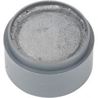 Water-based Face Paint, silver, 15 ml/ 1 tub