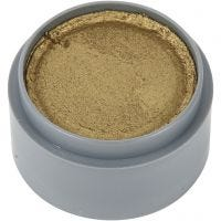 Water-based Face Paint, gold, 15 ml/ 1 tub