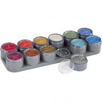 Water-based Face Paint Palette, mother of pearl colours, 12x15 ml/ 1 pc