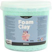 Foam Clay®, glitter, light green, 560 g/ 1 bucket