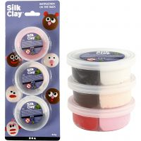 Silk Clay®, assorted colours, 6x7 g/ 1 pack