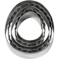 Cookie cutters, egg, size 8 cm, 5 pc/ 1 pack