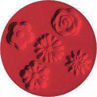 FIMO push mould, flowers, D: 7 cm, 1 pc