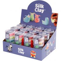 Silk Clay®, neon colours, standard colours, 12 set/ 1 pack