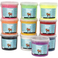 Foam Clay®, assorted colours, 10x560 g/ 1 pack