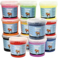 Foam Clay®, Content may vary , assorted colours, 12x560 g/ 1 pack