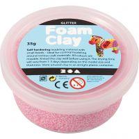 Foam Clay®, glitter, light red, 35 g/ 1 tub