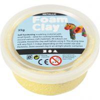 Foam Clay®, metallic, yellow, 35 g/ 1 tub
