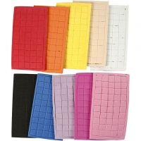 EVA Foam, size 8x8 mm, assorted colours, 80 sheet/ 1 pack