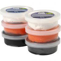 Silk Clay®, black, orange, white, 6x14 g/ 1 pack