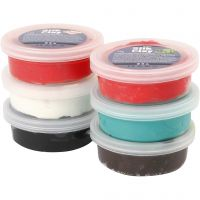 Silk Clay®, christmas colours, 6x14 g/ 1 pack
