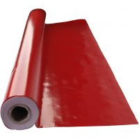 Wax tablecloth, size 140 cm, red, 1 rm