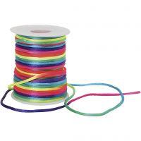 Macramé cord, thickness 2 mm, rainbow colours, 40 m/ 1 roll