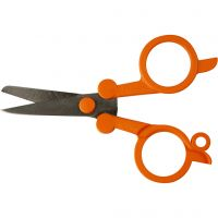 Classic Foldable Scissors, L: 10 cm, 1 pc