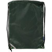 Drawstring bag, size 31x44 cm, green, 1 pc