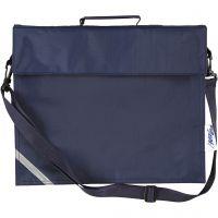 School Bag, depth 6 cm, size 36x31 cm, dark blue, 1 pc