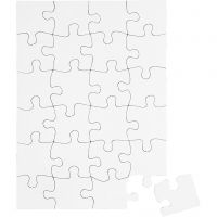 Jigsaw Puzzle, size 15x21 cm, white, 16 pc/ 1 pack
