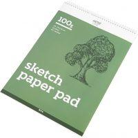 Drawing Paper Pad, A3, 297x420 mm, 100 g, 25 sheet/ 1 pc