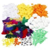 Kit To make Easter Chicks, H: 6 cm, 1 set, 16 pc