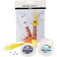 Mini Creative Kit, finger dolls, 1 set