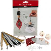 Creative mini kit, punched figures for making hanging decorations, 1 set