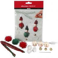 Creative mini kit, hanging Christmas elf decoration, 1 set