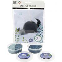 Creative mini Kit, Whale and calf, 1 set