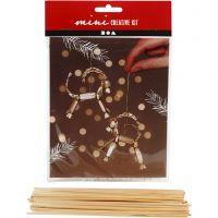 Creative mini kit, A Christmas straw goat, H: 7 cm, 1 set