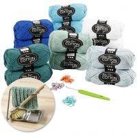 Kits– Crocheting, aqua, 1 set