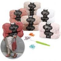 Creative kit– Crocheting, rose, 1 set