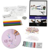 Creative kit – Jewellery-making with beads and shrink plastic sheets, 1 set