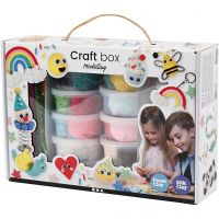 Foam Clay® and Silk Clay® Set, assorted colours, 1 set