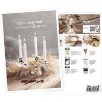 Postcard , Advent wreath, A5, 14,8x21 cm, 1 pc